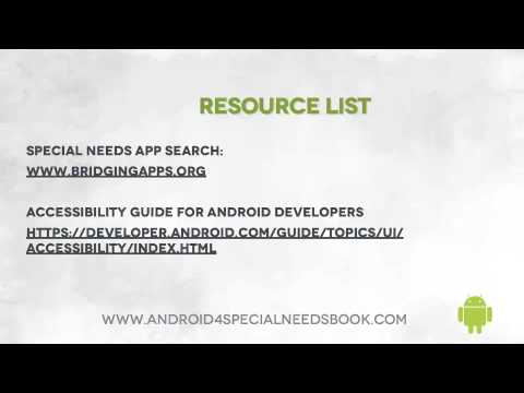 Resource List - Lesson 31 - Android Accessibility Features Course