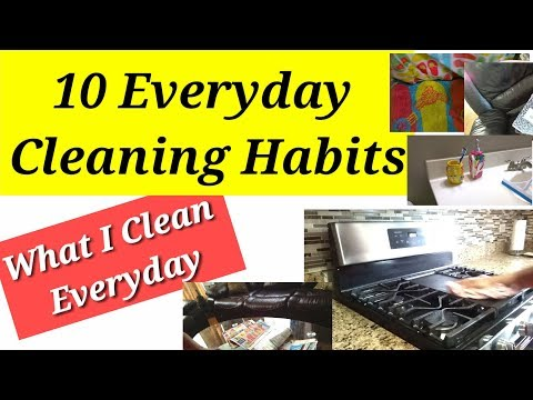 10 Habits of a Clean Home 2018 | Everyday Cleaning Habits I follow without Fail | ART OF HOMEMAKING