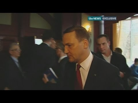 """You'll all be dead"": Polish foreign minister Radoslaw Sikorski's warning to Ukraine protest leader"