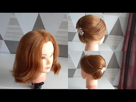 Tutorial Sanggul Modern Untuk Rambut Pendek (easy Hairdo For Short Hair)