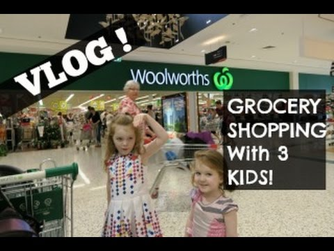 GROCERY Shopping VLOG With 3 KIDS -...
