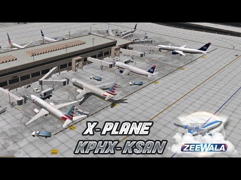 KPHX To KSAN | EADT x737 v5.0.1 in X-Plane 10 | 10-01-2016