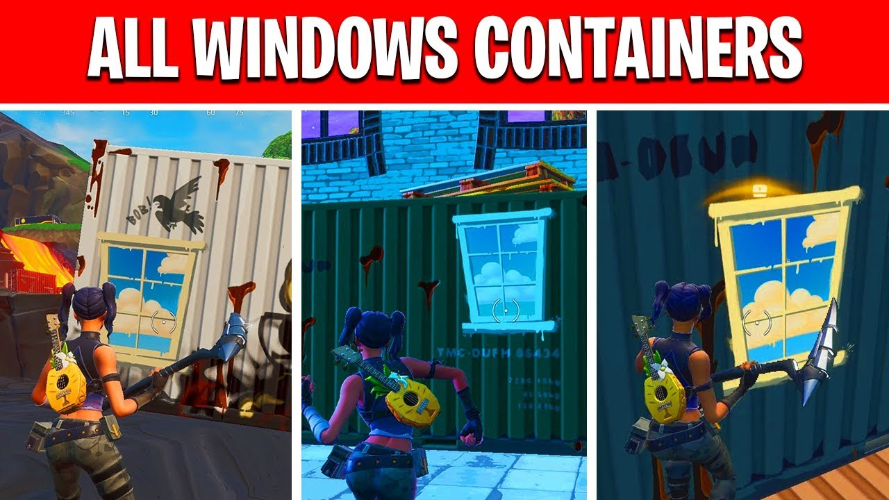search chests inside containers with windows fortnite locations