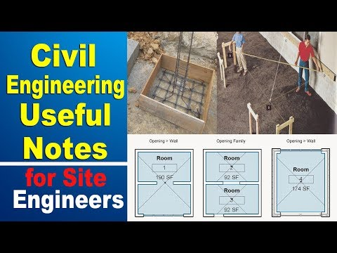 Civil Engineering Notes | Useful Tips / Notes For Civil Engineers On Site |
