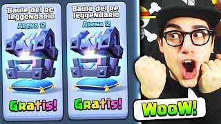 APRO il BAULE del RE GRATIS! TOP CHEST Clash Royale