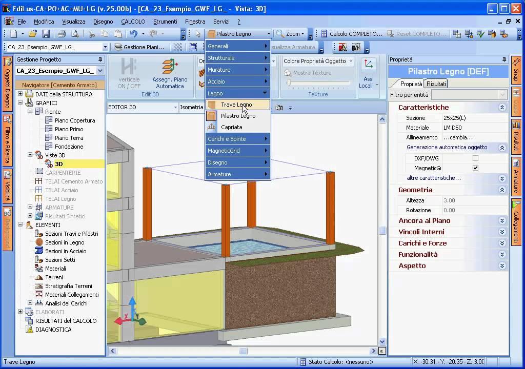 Acca software edilus lg progettazione e calcolo delle for Software di progettazione mobili 3d gratuito