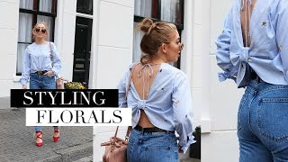 How To Style FLORAL Prints For Spring Lookbook 2017 | FASHION GUIDE