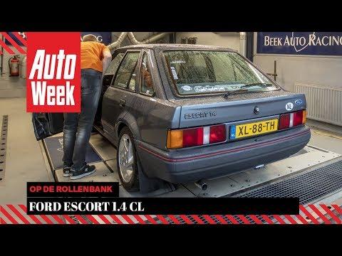 Ford Escort 1.4 CL - Op De Rollenbank