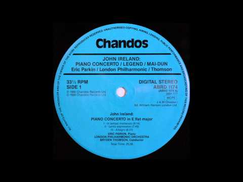 John Ireland , Piano Concerto, Eric Parkin, Piano