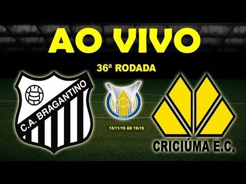 Bragantino x Criciúma Ao Vivo | Brasileirão Série B | 36ª Rodada