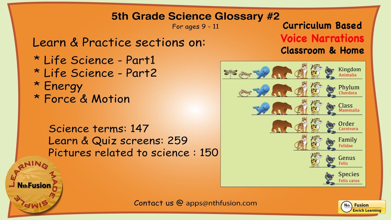 5th Grade Science Glossary 2 Learn And Practice Worksheets For Home And Classroom