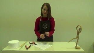 Ксения Евдокимова рассказывает и показывает как сделать проволочный каркас в рамках ее курса