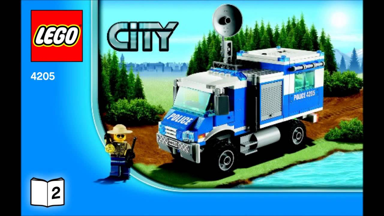 Lego 4205 Off Road Command Center City Police Instruction Booklet