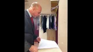 How to iron a dress shirt properly and efficiently...Paul Melluzzo from Melluzzo Menswear