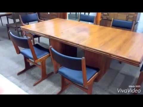 Vintage Danish Dining Chairs and Dining Table
