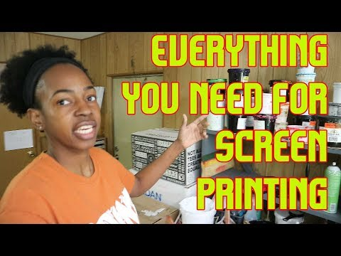All The Equipment You Need To Start A Screen Printing Business