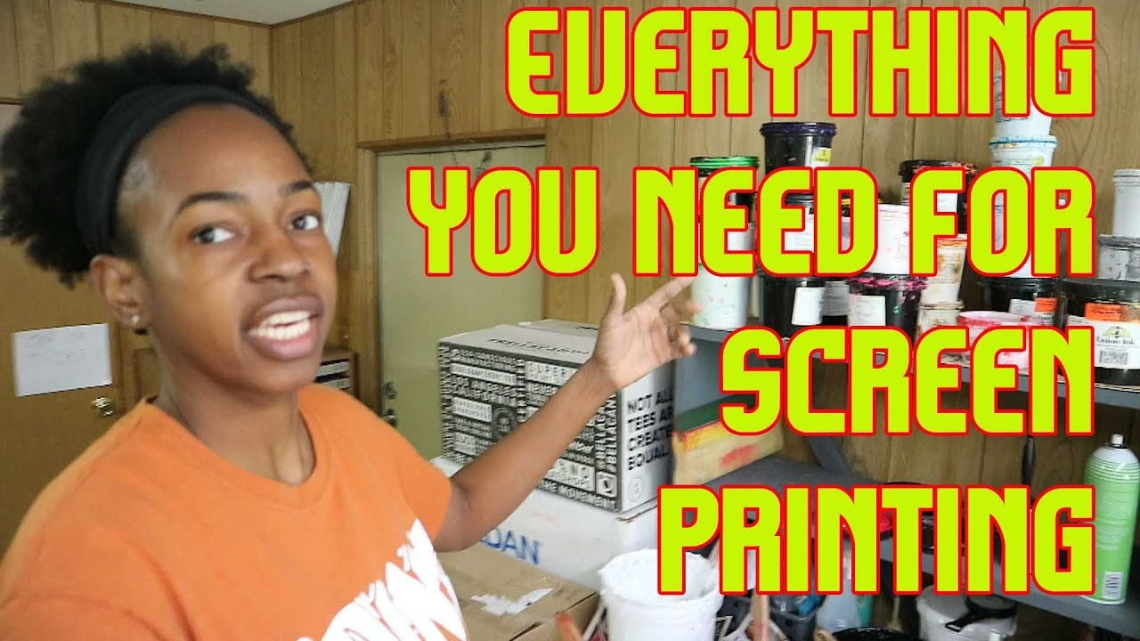 0949802c All The Equipment You Need To Start A Screen Printing Business - YouTube