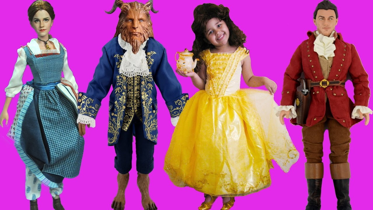 Beauty And The Beast 2017 Live Action Movie Halloween Costumes And Toys Youtube