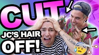 CUTTING JC'S HAIR OFF!! (GONE WRONG)