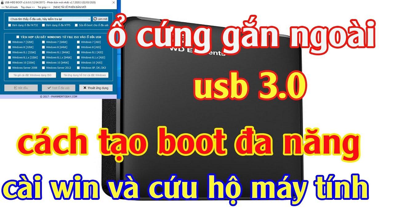 Tạo Boot Cho Ổ Cứng Di Động HDD Box boot đa năng cài win và cứu hộ máy tính