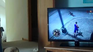 Me playing Saints Row 2 on my PS3
