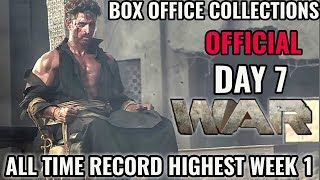 WAR BOX OFFICE COLLECTION DAY 7 | INDIA | OFFICIAL | HRITHIK ROSHAN | TIGER SHROFF | BLOCKBUSTER
