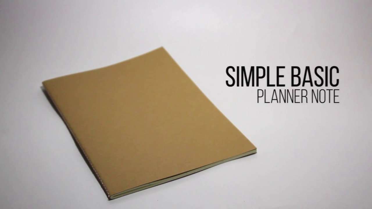 review simple basic planner note