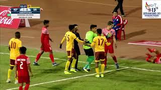 SAG FOOTBALL NEPAL VS SRILANKA 1-1 HIGHLIGHTS