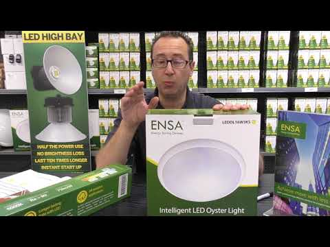 Bluee Technologies energy saving oyster light by ENSA