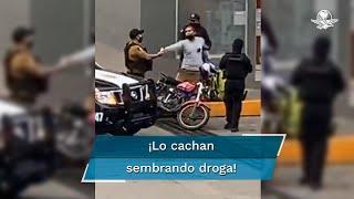 """Los hechos ocurrieron el fin de semana en el municipio de Martínez de la Torre, en donde el elemento de la Fuerza Civil, junto con policías locales, fue videograbado sembrando droga a un empleado de la empresa """"Dodvi"""""""