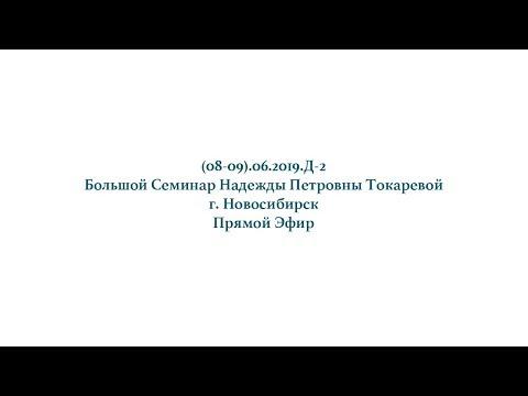 Надежда Токарева - (08-09).06.2019.Д-2_Большой Семинар.Новосибирск.Прямой Эфир.День-2.