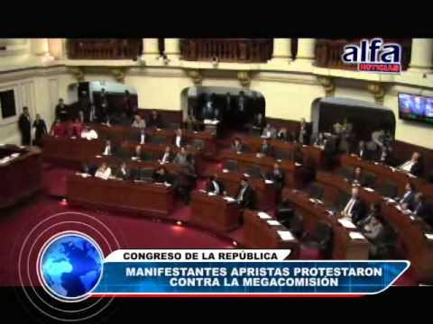 ALFA NOTICIAS - MANIFESTANTES APRISTAS PROTESTARON CONTRA MEGACOMISIÓN