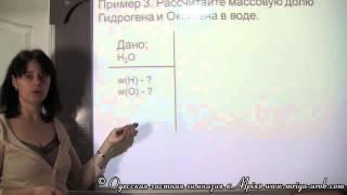 Массовая доля элемента в составе вещества