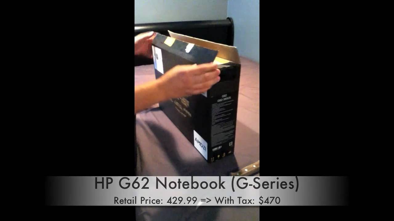 Unboxing & Hands On Review - HP G62 Notebook (G-Series)
