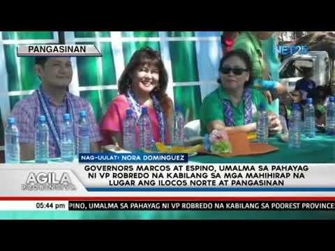 Governors Marcos at Espino, umalma sa pahayag ni VP Robredo na kabilang sa poorest provinces ang Ilo