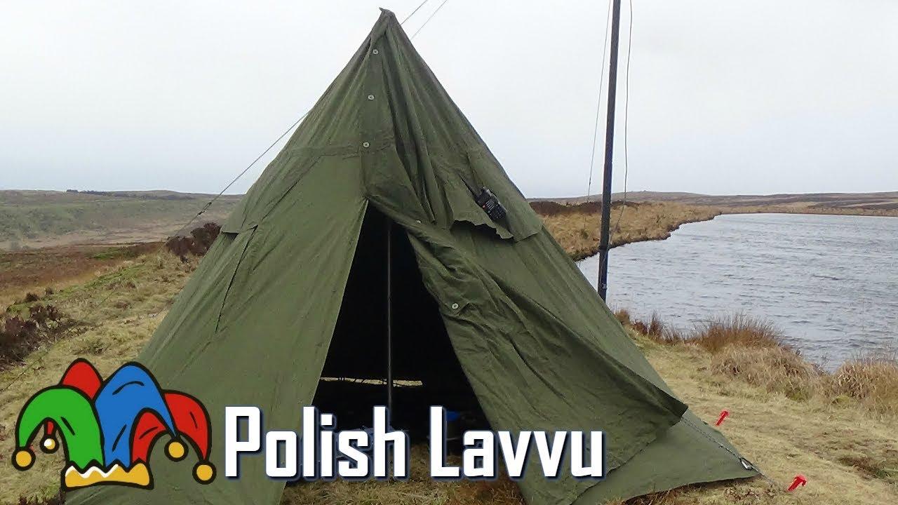 Bushcraft - Polish Army Lavvu Poncho Shelter & Bushcraft - Polish Army Lavvu Poncho Shelter - YouTube