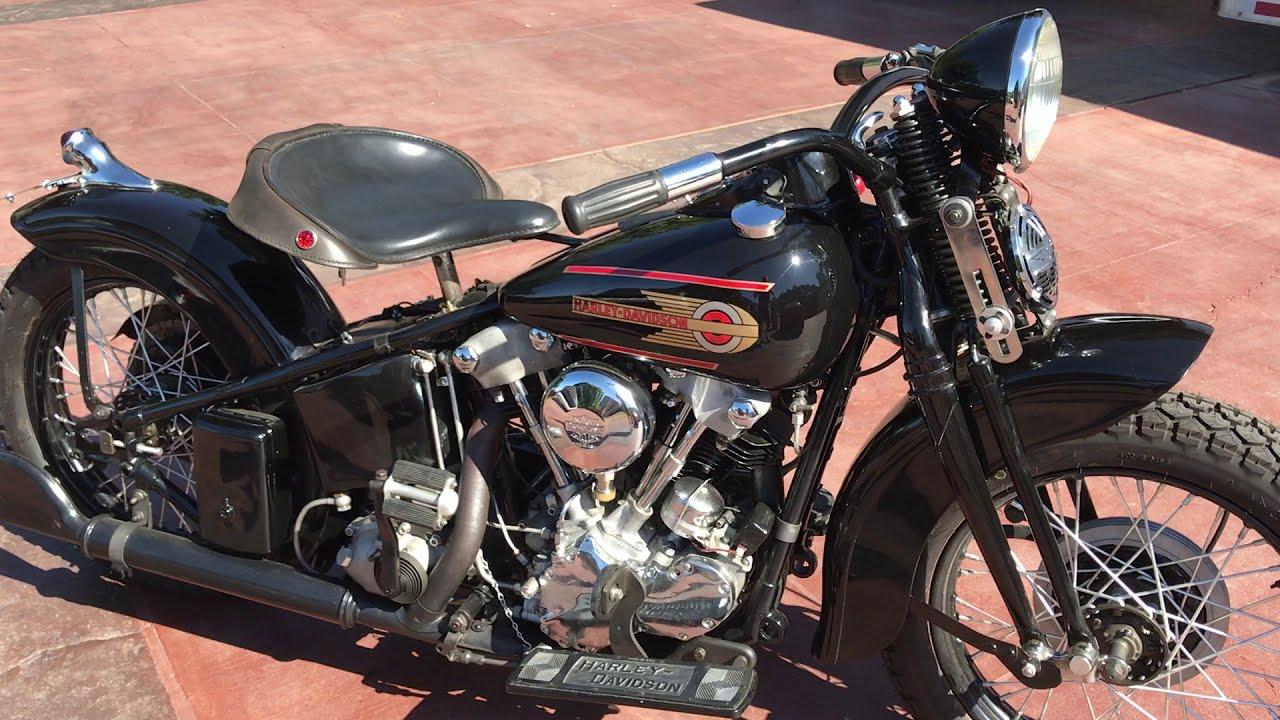 1937 Harley Davidson Knucklehead Bobber