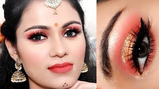 गरबा मेकअप Long Lasting Navratri /GARBA Makeup Tutorial 2018 In Hindi
