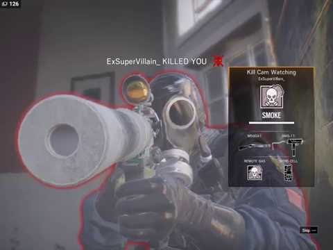 "Rainbow Six Siege - cheater ""ExSuperVillian_"" spotted on 06-27-2016 (wall hack) Low Quality"