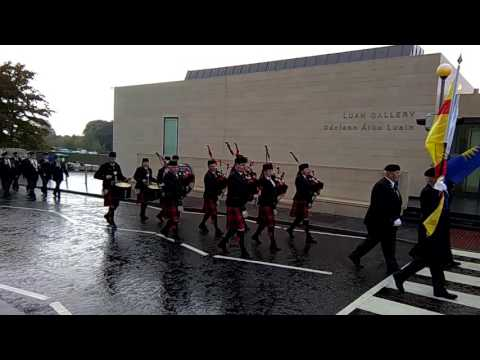 O.N.E. Commemoration in Athlone army barracks and parade to St. Peter and Paul's church