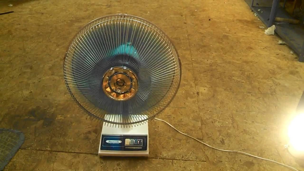 Pansonic 16 Vintage Oscillating Desk Fan