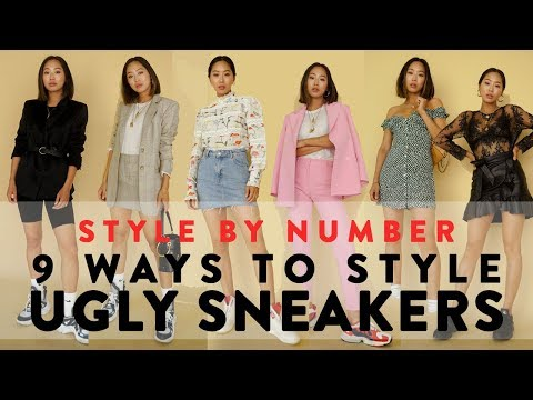 9 Ways To Wear Ugly Dad Sneakers  Style  Number  Aimee Song