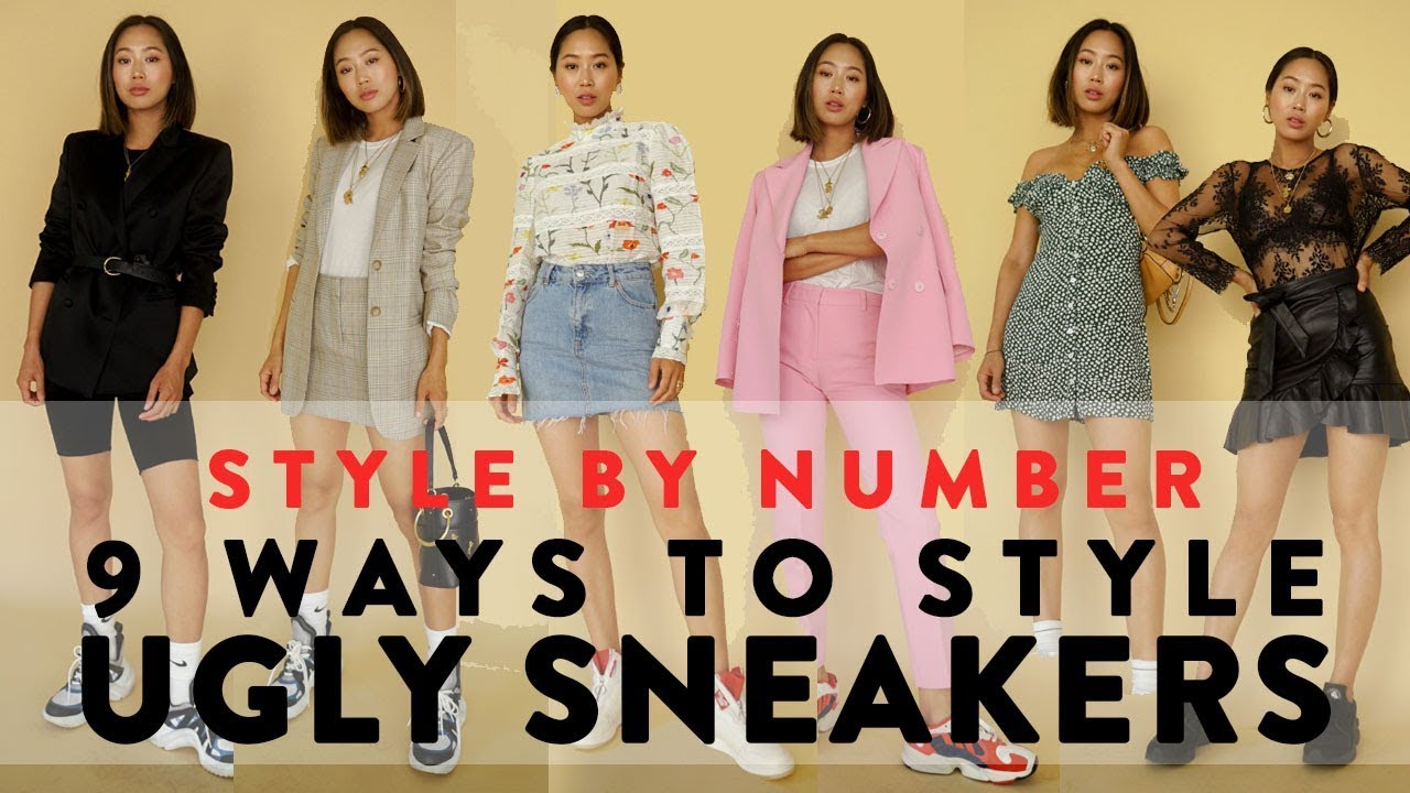 7cf70da062 9 Ways To Wear Ugly Dad Sneakers - Style By Number