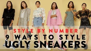 9 Ways To Wear Ugly Dad Sneakers - Style By Number | Aimee Song