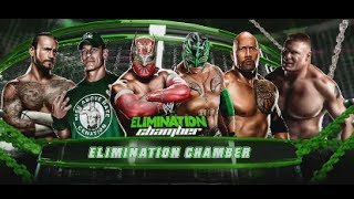 WWE Elimination Chamber Sin Cara vs John Cena vs Brock Lesnar vs THe Rock vs C M Punk vs Rey Mysteri