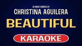 Beautiful (Karaoke Version) - Christina Aguilera   TracksPlanet