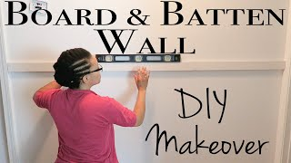 Board and Batten Wall DIY