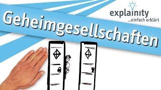 Geheimgesellschaften einfach erklärt (explainity® Erklärvideo)