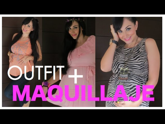 1b2ca50c2 OUTFIT y MAQUILLAJE para BABY SHOWER - YouTube