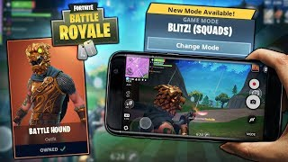 NEW BLITZ MODE & NEW BATTLE HOUND SKIN GAMEPLAY! NEW FORTNITE MOBILE UPDATE!